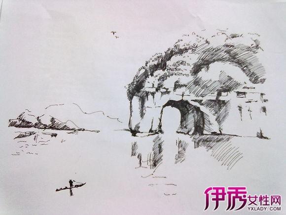 【手绘黑白画线描风景】【图】手绘黑白画线描风景