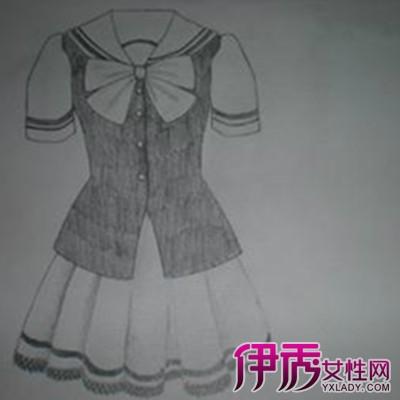 校服设计图手绘图片_手绘校服设计图