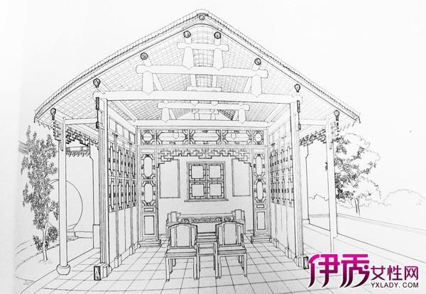 【图】古风建筑手绘图片展示 普及手绘的技巧方法知识