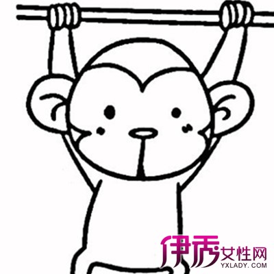 猴子头像简笔画