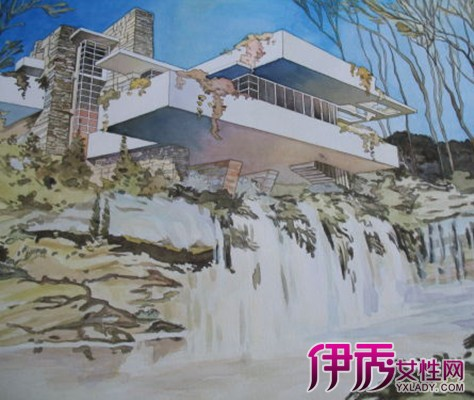 【图】流水别墅手绘图看点 为你揭秘其生命的最高境界