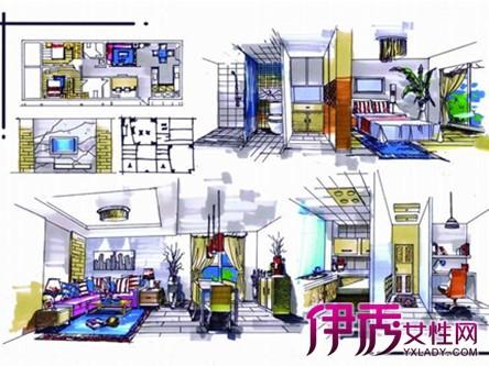 【图】室内手绘快题设计图片 点线面构成一幅完整的设计