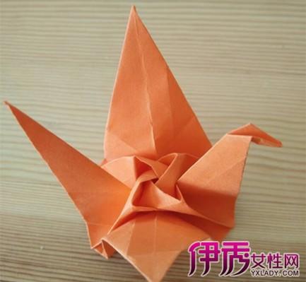 【图】玫瑰花千纸鹤的折法怎么做?