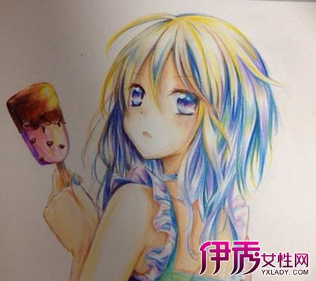 【手绘动漫人物彩铅画】【图】看手绘动漫人物彩铅画