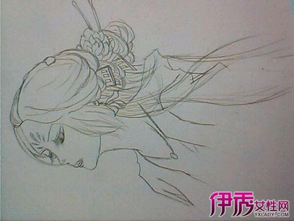 【图】古风人物手绘素描绘图大全