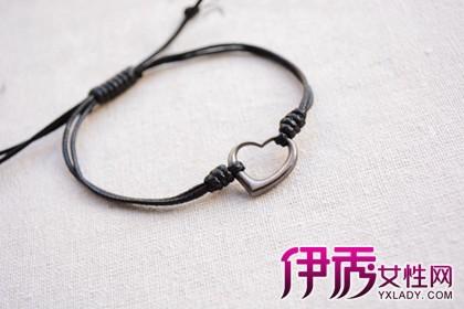 心形斜卷结手链编织方法