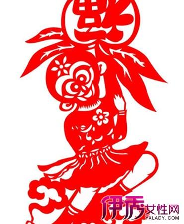 剪刻花纹,用于装点生活或配合其他民俗活动的一种民间艺术.在中国