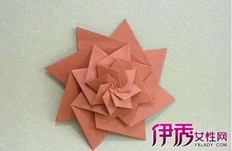 【图】立体花折纸大全图解