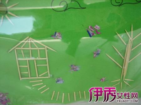 【图】创意手工牙签粘贴画展览 4点揭示手工制作对孩子的好处