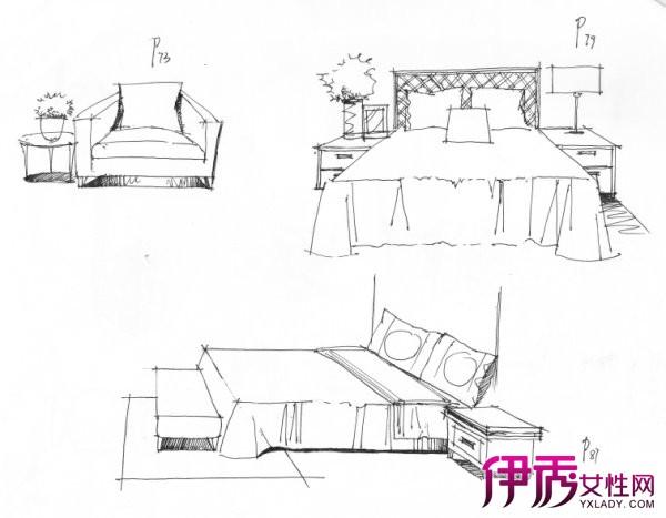 【图】室内家具组合手绘介绍 图画是设计师的语言