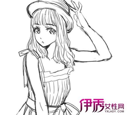 【图】手绘动漫女孩简笔画大全 欣赏海量动漫女孩