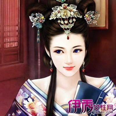【清朝古装美女手绘图片】【图】