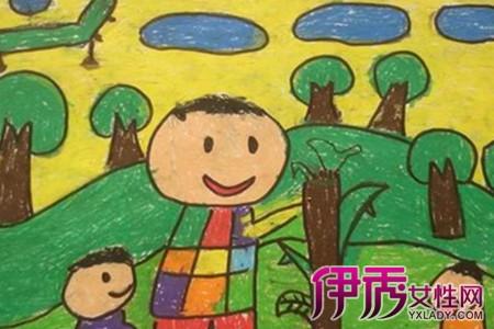 小学生画的秋天的图画图 2