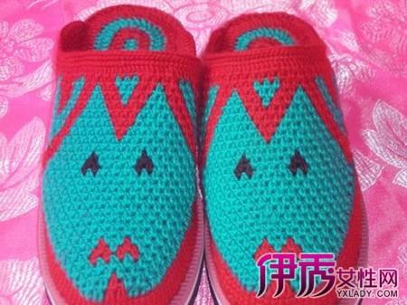 勾鞋子的图案图解 教你如何手工制作毛线鞋(3
