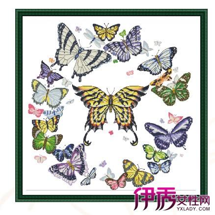 【打格十字绣蝴蝶图纸】【图】打格十字绣蝴蝶图纸