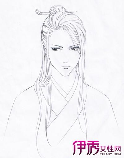 【手绘古装美男铅笔画】【图】手绘古装美男铅笔画