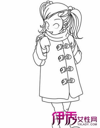 【图】小学生背书包简笔画
