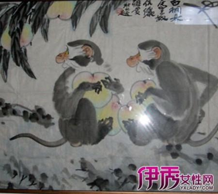 看猴子栽桃工笔国画图片 小编与你浅谈工笔画染法12大技巧