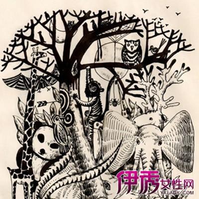 【创意黑白手绘插画树】【图】展示创意黑白手绘插画