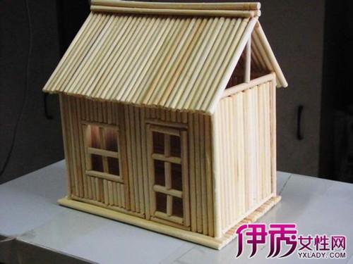 用一次性筷子纯手工制作的小房子