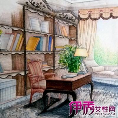 【图】书房手绘效果图展示 为你盘点手绘的几个艺术价值