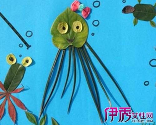 【海底世界树叶贴画】【图】海底世界树叶贴画图片