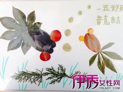 【图】一年级树叶贴画图片展示 教你如何制作树叶粘贴画图片
