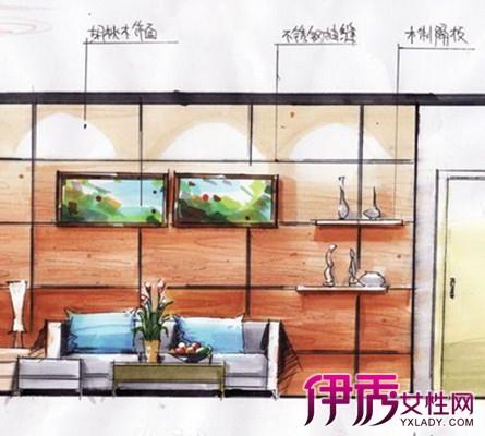 手绘效果图是用绘画手法来表现建筑或室内设计的构想
