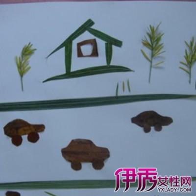 布贴画 房子 制作步骤