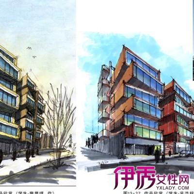 【图】两点透视建筑手绘图片欣赏 手绘的四个素质条件设计师需具备