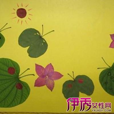 创意唯美树叶贴画作品图片