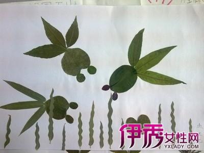 【动物树叶贴画】【图】儿童小动物树叶贴画图片