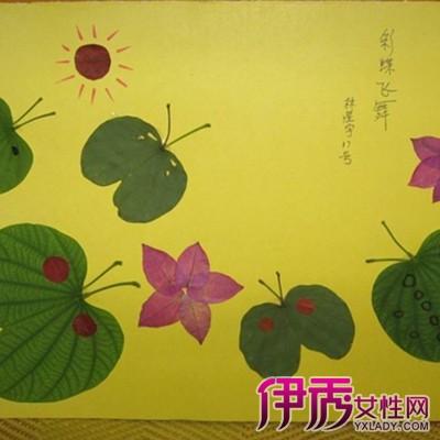 简单的树叶粘贴画欣赏 三个步骤让你轻松做出精美树叶粘贴画图片