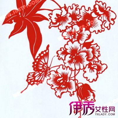 展示花朵剪纸图案大全 教你如何折 五折花团
