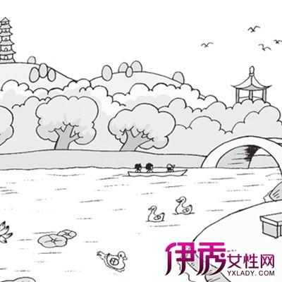 【图】公园简笔画图片大全欣赏 展现其创意个性