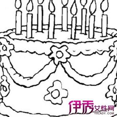 【蛋糕 简笔画】【图】萌萌哒幼儿蛋糕简笔画