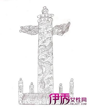 【图】华表图片手绘 中华民族传统文化的显示
