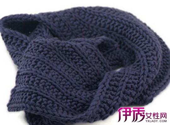 【菱形格子围巾织法】【图】菱形格子围巾织法图解