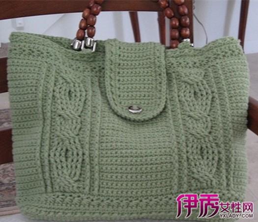 【图】实用漂亮包包的编织教学 只需几步轻松钩出好看小包包