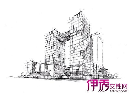 【图】简单建筑手绘线稿欣赏 表现技巧不得不知