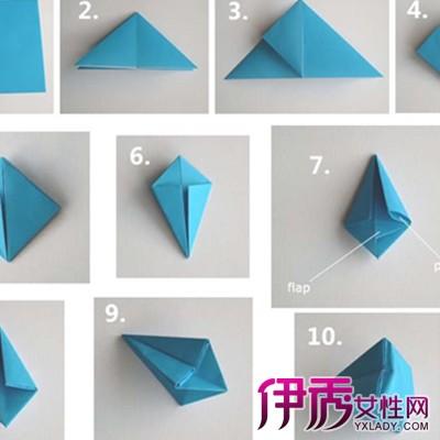 简单立体钻石折纸图解
