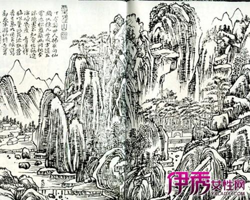 【图】木刻版画山水图展现