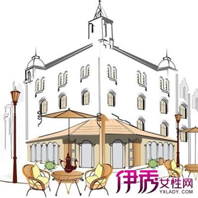 【街边咖啡馆手绘效果图】【图】展示街边咖啡馆手绘