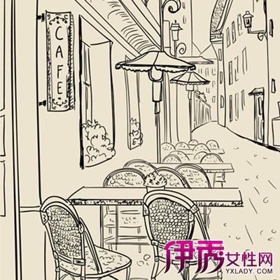 展示街边咖啡馆手绘效果图 介绍手绘的3大技巧方法