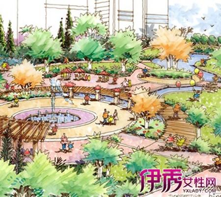 【图】手绘园林景观效果图鸟瞰图片欣赏