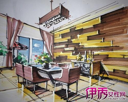 【室内餐厅手绘效果图】【图】室内餐厅手绘效果图