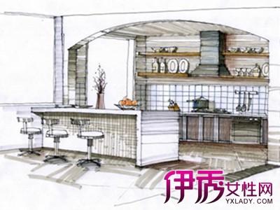 【图】厨房手绘效果图 看效果图设计厨房