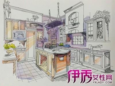 【廚房手繪效果圖】【圖】廚房手繪效果圖