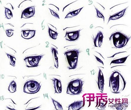 【图】动漫人物绘画教程揭秘 向你介绍漫画式眼睛的画法
