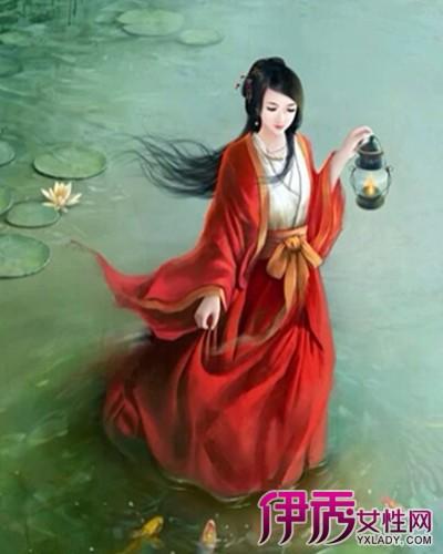【图】彼岸花手绘古风美女 彼岸花红颜与君伴